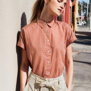 EUC Uniqlo Soft Cotton Short Sleeve Shirt Size M